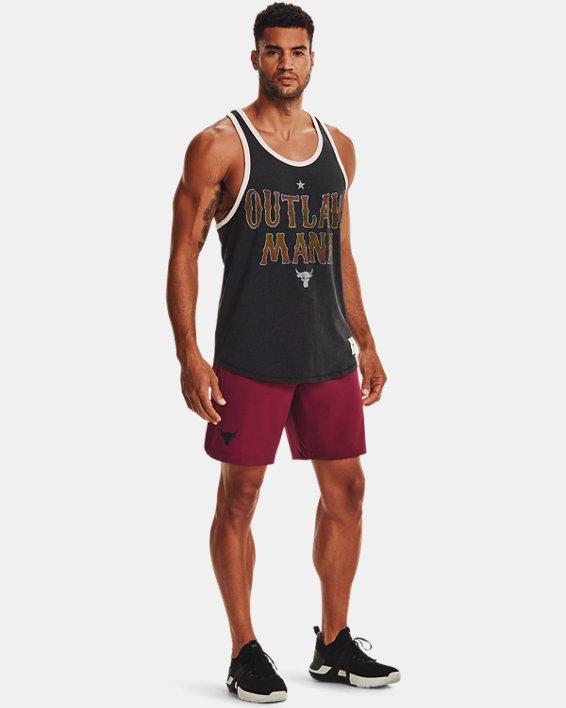 Men's Project Rock Snap Shorts, Red, pdpMainDesktop image number 2