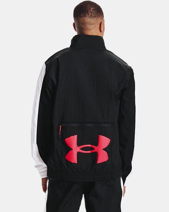Men's UA Woven Track Jacket, Black, pdpMainDesktop image number 2