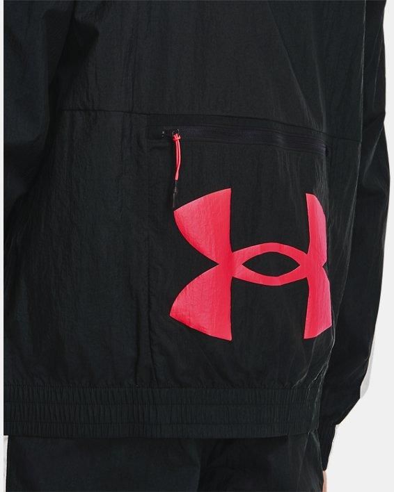 Men's UA Woven Track Jacket, Black, pdpMainDesktop image number 6
