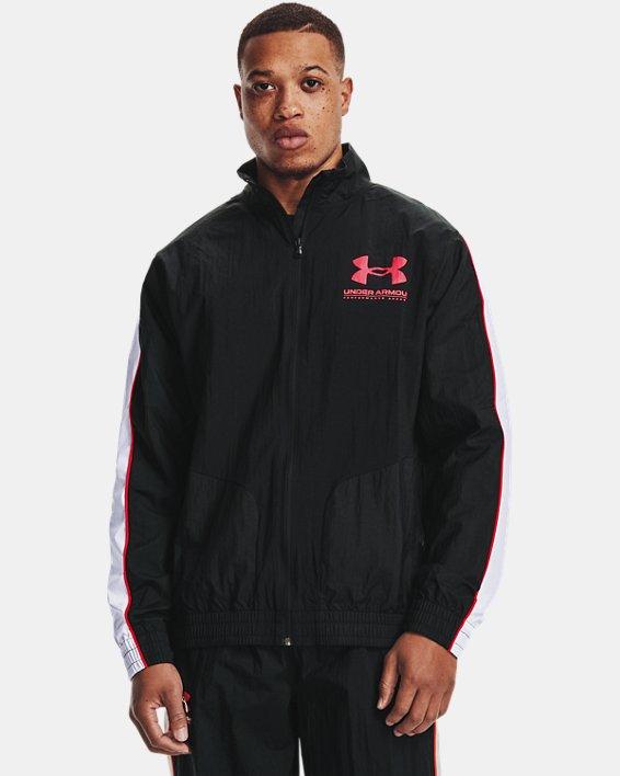 Men's UA Woven Track Jacket, Black, pdpMainDesktop image number 1