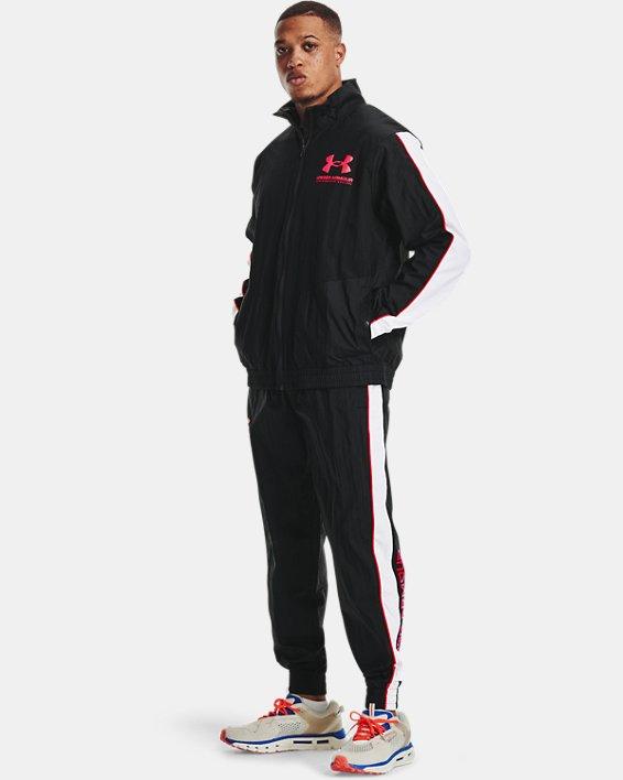 Men's UA Woven Track Jacket, Black, pdpMainDesktop image number 0