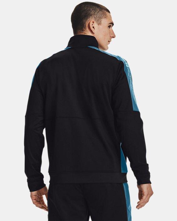 Men's UA Sportstyle Graphic Track Jacket, Black, pdpMainDesktop image number 2