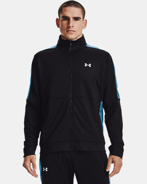 Men's UA Sportstyle Graphic Track Jacket, Black, pdpMainDesktop image number 1