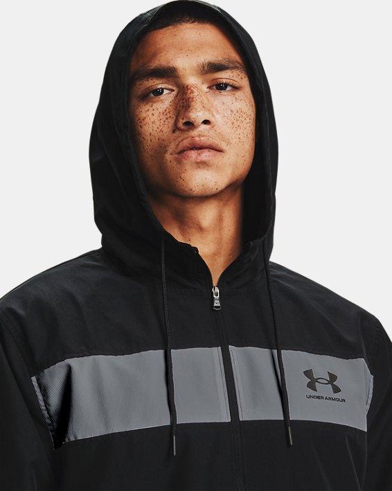 Men's UA Sportstyle Windbreaker Jacket, Black, pdpMainDesktop image number 2