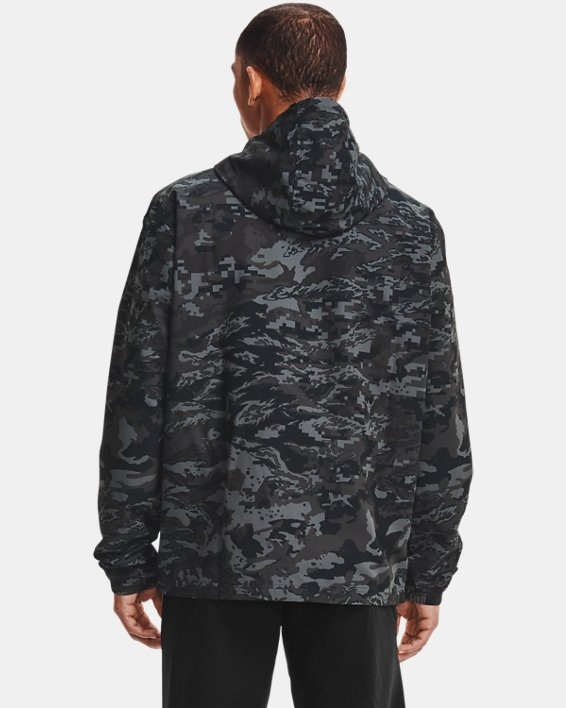 Men's UA Sportstyle Camo Windbreaker Jacket, Black, pdpMainDesktop image number 2