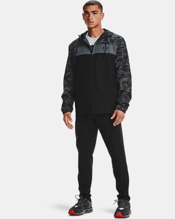 Men's UA Sportstyle Camo Windbreaker Jacket, Black, pdpMainDesktop image number 0
