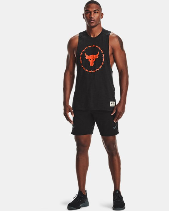 Men's Project Rock Charged Cotton® Tank, Black, pdpMainDesktop image number 0