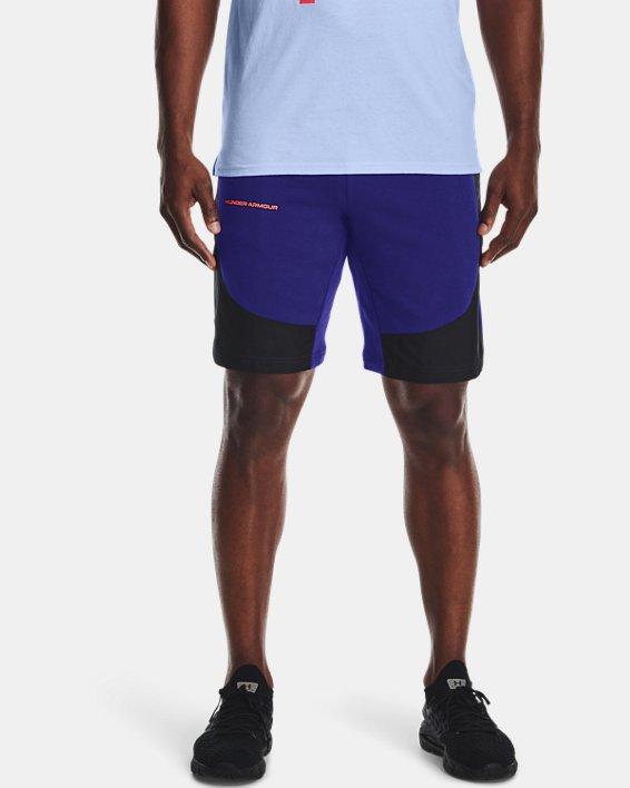 Men's UA Rival Terry AMP Shorts, Blue, pdpMainDesktop image number 1