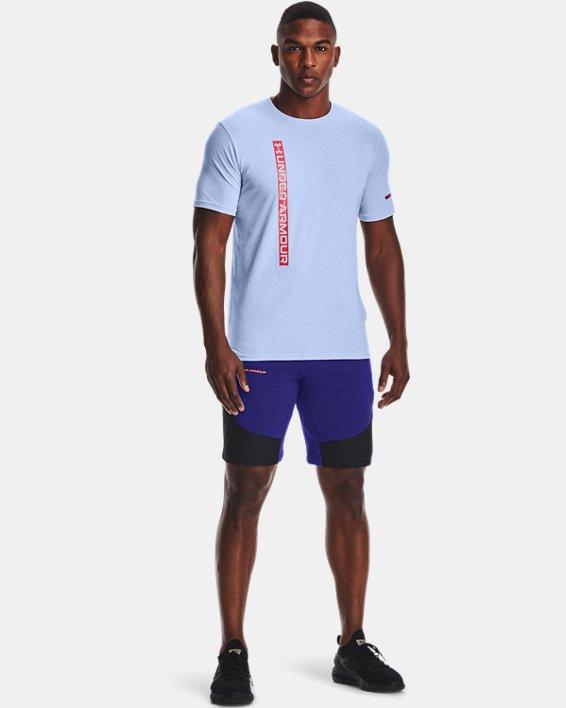 Men's UA Rival Terry AMP Shorts, Blue, pdpMainDesktop image number 0