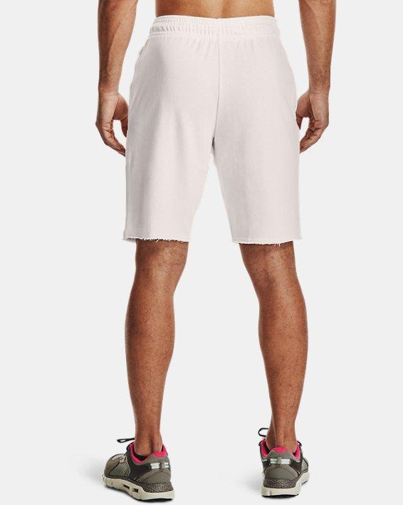 Men's UA Rival Terry Collegiate Shorts, White, pdpMainDesktop image number 2