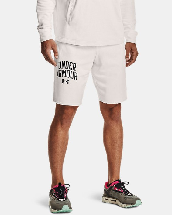 Men's UA Rival Terry Collegiate Shorts, White, pdpMainDesktop image number 1