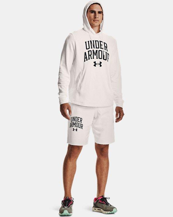 Men's UA Rival Terry Collegiate Shorts, White, pdpMainDesktop image number 0