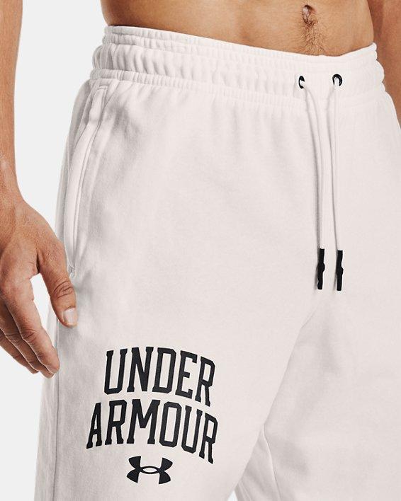 Men's UA Rival Terry Collegiate Shorts, White, pdpMainDesktop image number 3