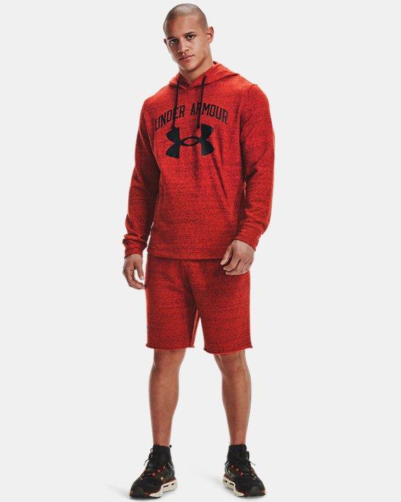 Men's UA Rival Terry Shorts, Orange, pdpMainDesktop image number 0
