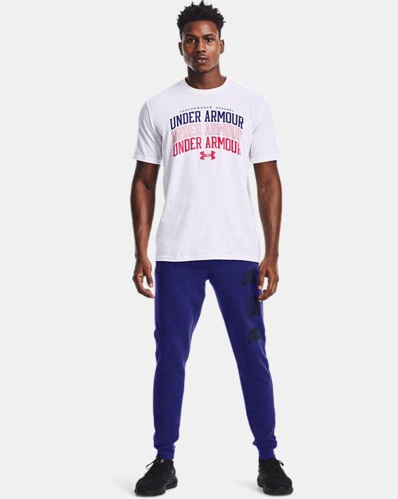 Men's UA Rival Terry Collegiate Joggers, Blue, pdpMainDesktop image number 0