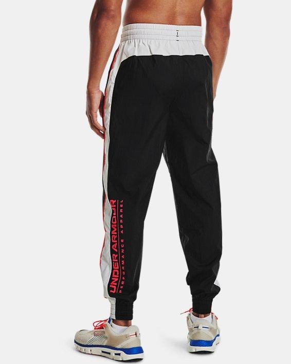 Men's UA Woven Track Pants, Black, pdpMainDesktop image number 2
