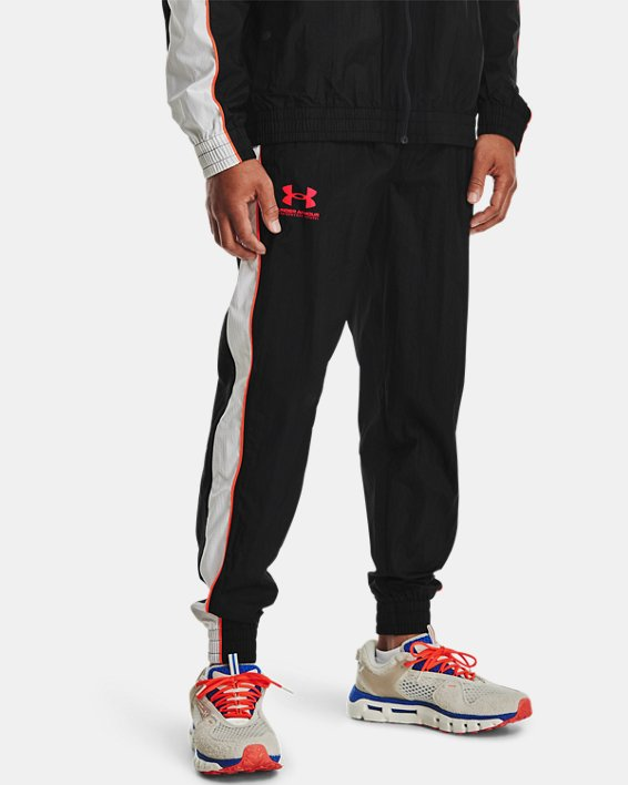 Men's UA Woven Track Pants, Black, pdpMainDesktop image number 1