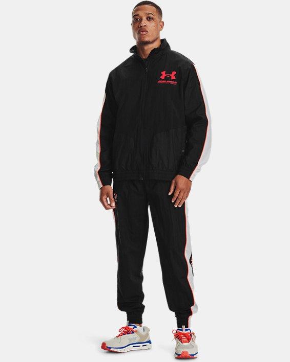 Men's UA Woven Track Pants, Black, pdpMainDesktop image number 0
