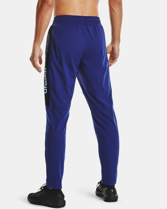 Men's UA Sportstyle Graphic Track Pants, Blue, pdpMainDesktop image number 2