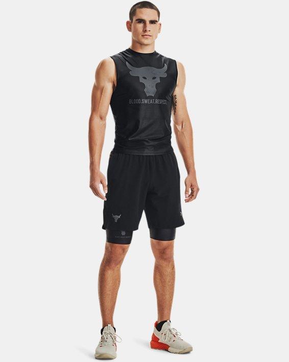 Men's Project Rock Iso-Chill Shorts, Black, pdpMainDesktop image number 0