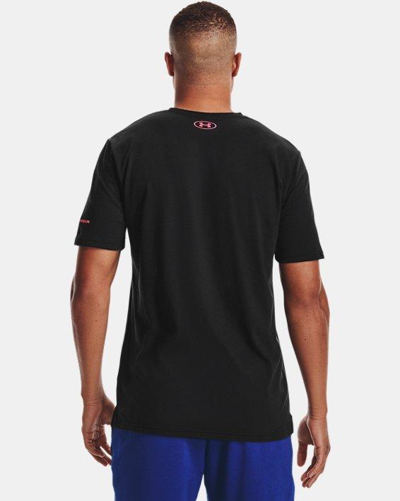 Men's UA Vertical Wordmark Short Sleeve, Black, pdpMainDesktop image number 2