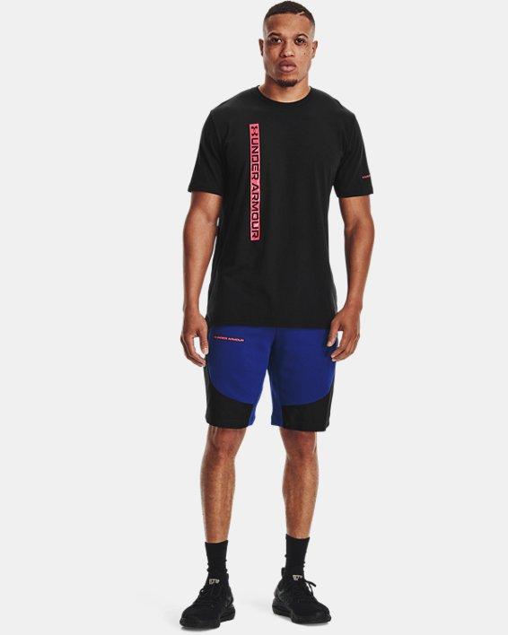 Men's UA Vertical Wordmark Short Sleeve, Black, pdpMainDesktop image number 0