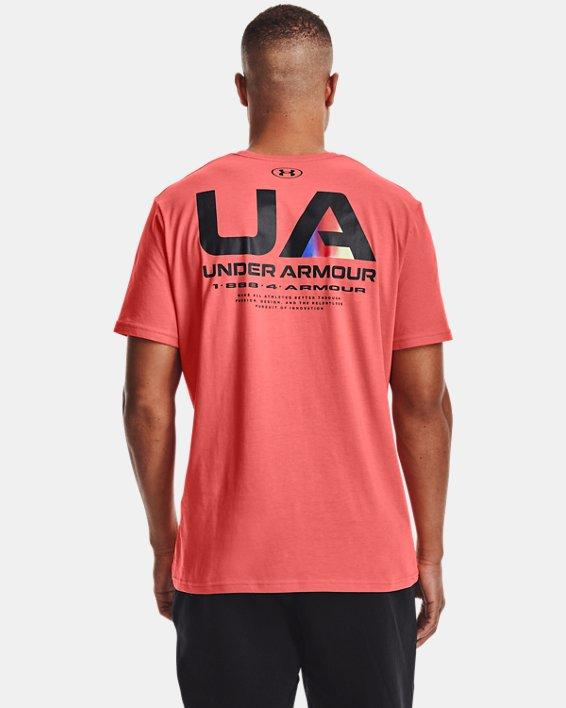 Men's UA Lockertag Short Sleeve, Red, pdpMainDesktop image number 2