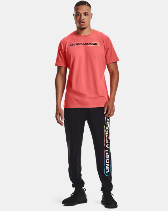 Men's UA Lockertag Short Sleeve, Red, pdpMainDesktop image number 0