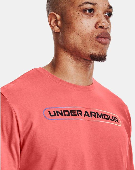 Men's UA Lockertag Short Sleeve, Red, pdpMainDesktop image number 3