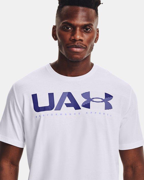 Men's UA Performance Apparel Short Sleeve, White, pdpMainDesktop image number 5