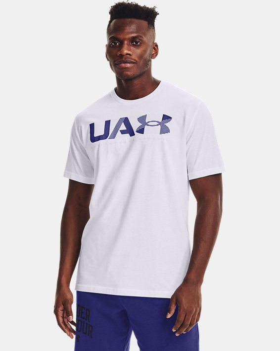 Men's UA Performance Apparel Short Sleeve, White, pdpMainDesktop image number 1