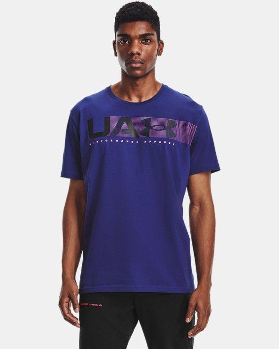 Camiseta de manga corta UA Performance Apparel para hombre, Blue, pdpMainDesktop image number 1