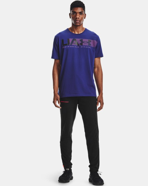 Camiseta de manga corta UA Performance Apparel para hombre, Blue, pdpMainDesktop image number 0