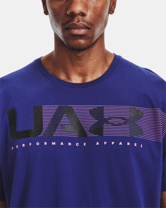 Camiseta de manga corta UA Performance Apparel para hombre, Blue, pdpMainDesktop image number 3