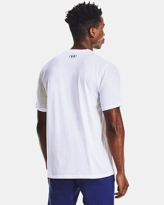 Men's UA Multi Color Collegiate Short Sleeve, White, pdpMainDesktop image number 1