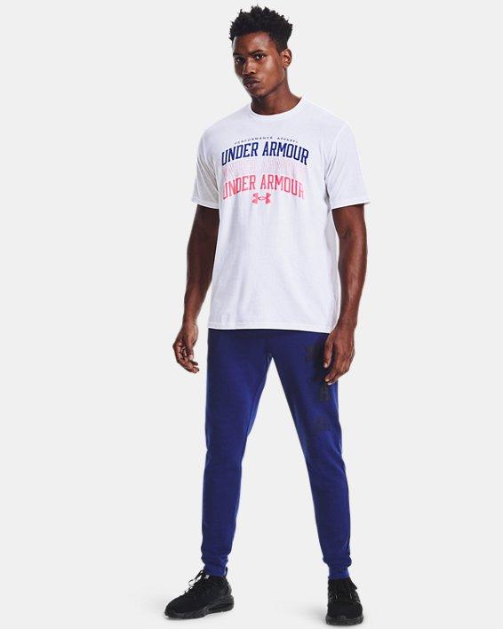 Men's UA Multi Color Collegiate Short Sleeve, White, pdpMainDesktop image number 2
