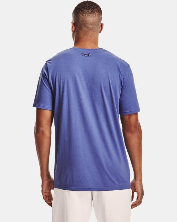 Men's UA Multi Color Collegiate Short Sleeve, Purple, pdpMainDesktop image number 1