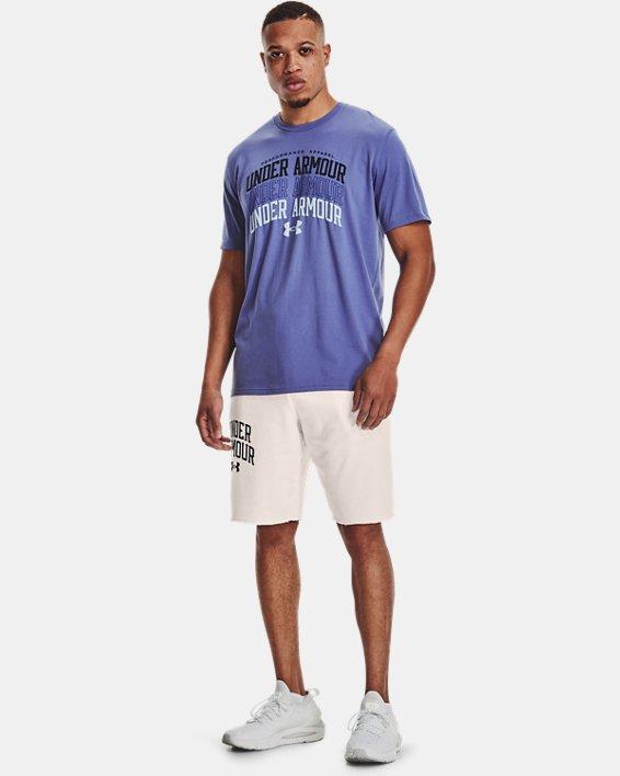 Men's UA Multi Color Collegiate Short Sleeve, Purple, pdpMainDesktop image number 2