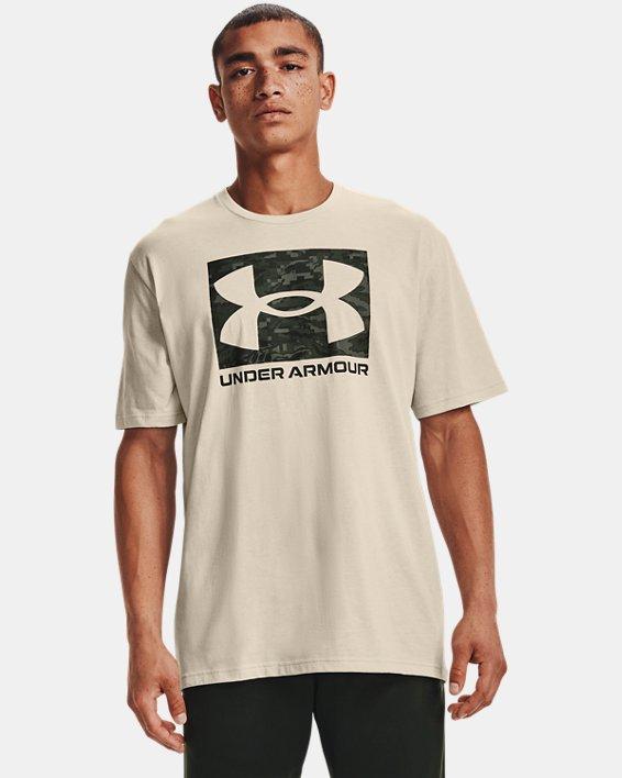 Men's UA ABC Camo Boxed Logo Short Sleeve, White, pdpMainDesktop image number 1