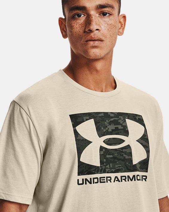 Men's UA ABC Camo Boxed Logo Short Sleeve, White, pdpMainDesktop image number 3