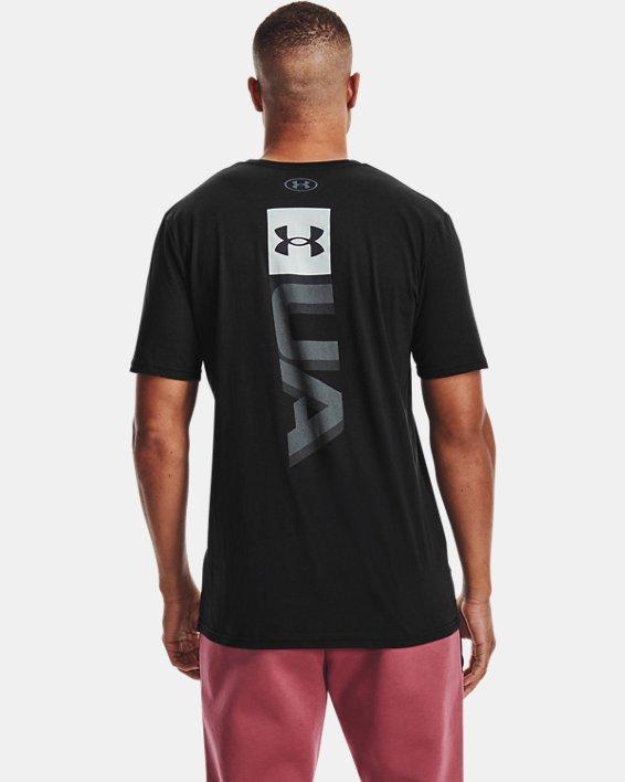 Men's UA Boxed Wordmark Short Sleeve, Black, pdpMainDesktop image number 2