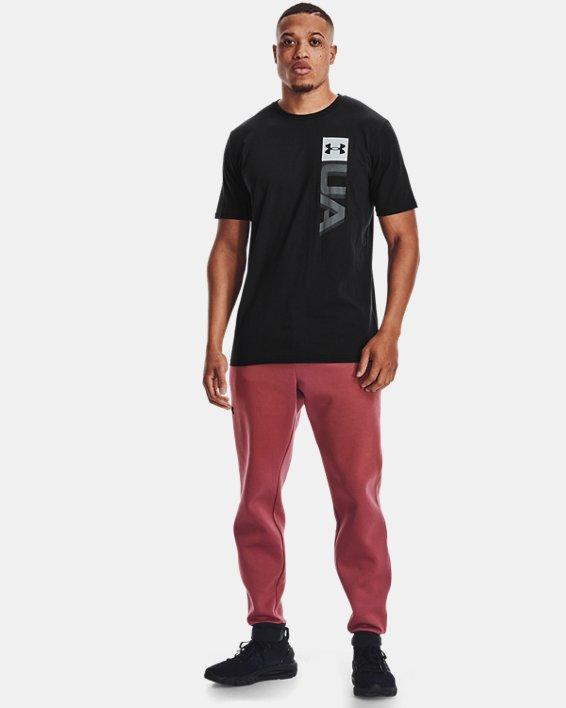 Men's UA Boxed Wordmark Short Sleeve, Black, pdpMainDesktop image number 0