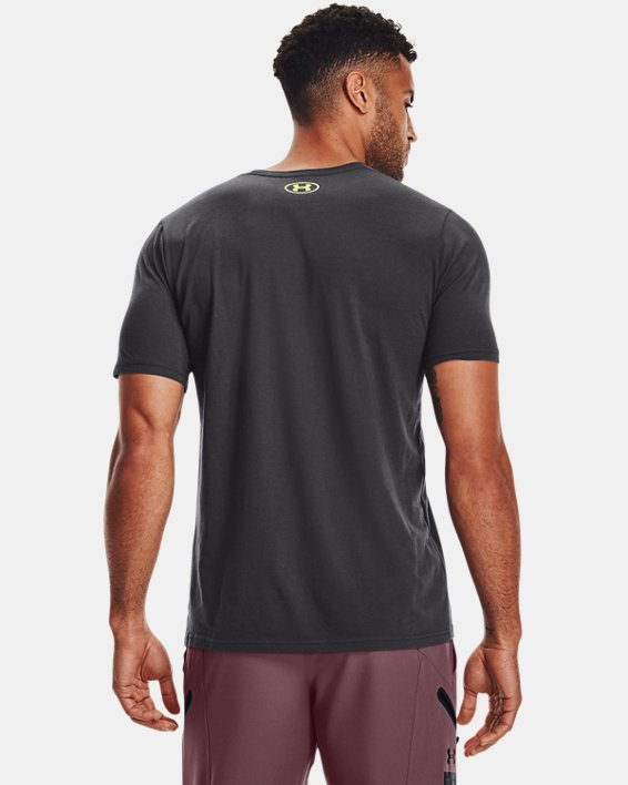 Camiseta de manga corta UA Number Script para hombre, Gray, pdpMainDesktop image number 1