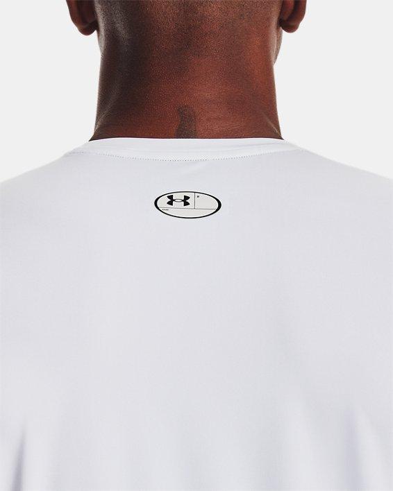 Men's HeatGear® Armour Fitted Short Sleeve, White, pdpMainDesktop image number 5
