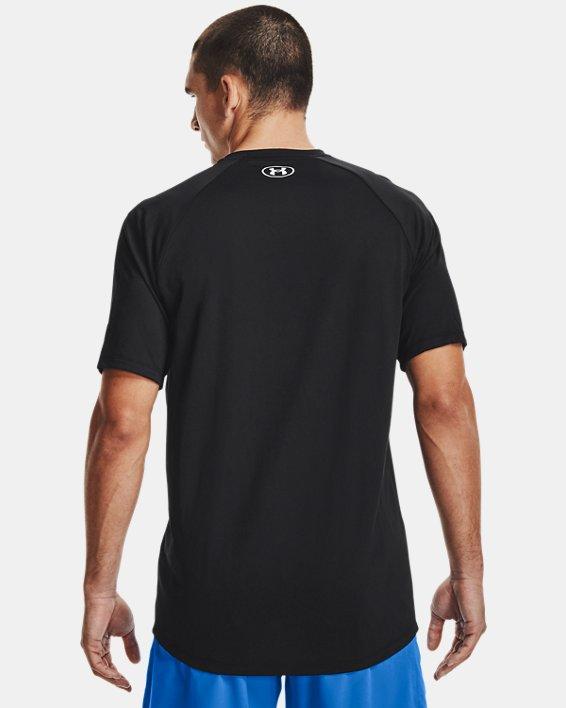 Men's UA Tech™ 2.0 Circuit Short Sleeve, Black, pdpMainDesktop image number 2