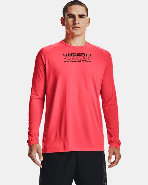 Men's UA Tech™ 2.0 Originators Of Performance Long Sleeve, Red, pdpMainDesktop image number 1