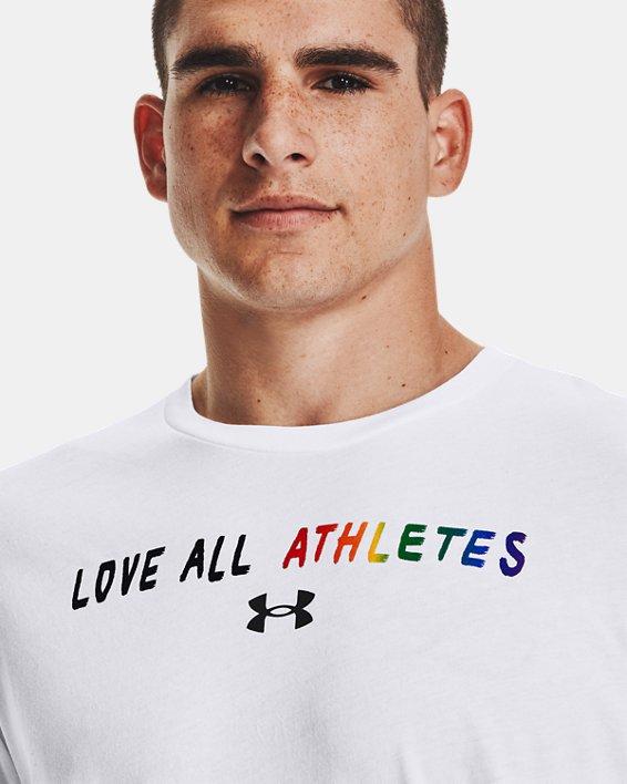 Camiseta de manga corta UA Pride Courage, White, pdpMainDesktop image number 3