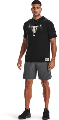 Details about  /NWT Men's Under Armour Project Rock Respect Short Sleeve Hoodie XL 1326409-001