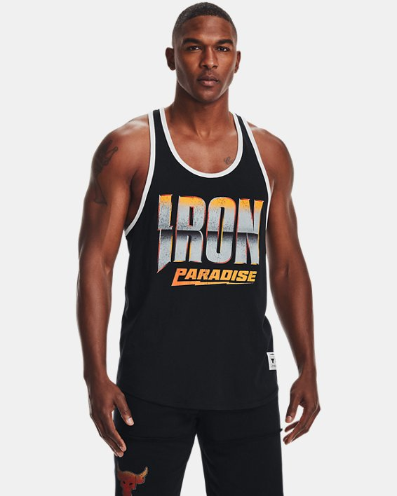 Men's Project Rock Iron Tank, Black, pdpMainDesktop image number 1