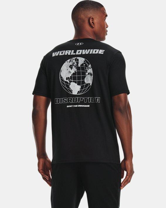 Men's Project Rock Fire Short Sleeve, Black, pdpMainDesktop image number 2